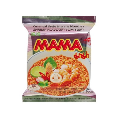 SOUPE INSTANTANEE CREVETTES TOMYUM MAMA 60G